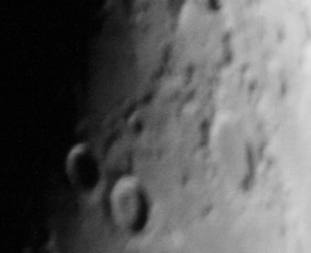 Craters on the moon through a skywatcher