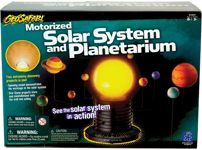 A model for kids showing the planets of the Solar System.
