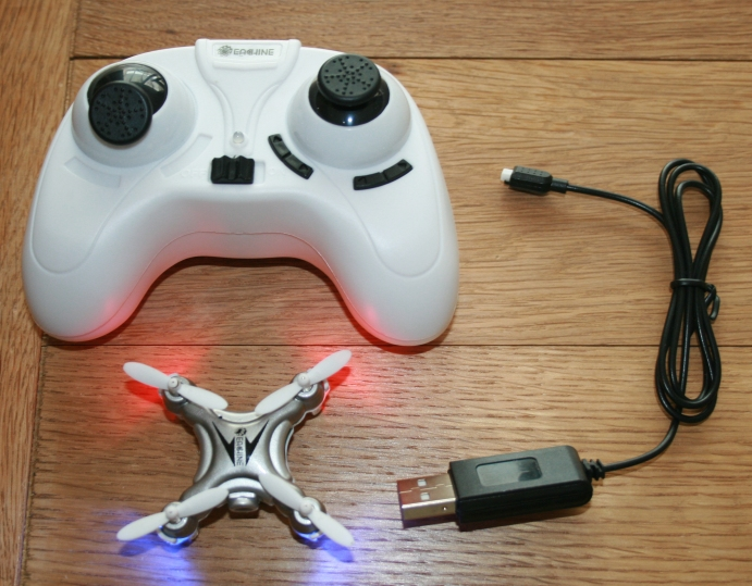 A toy drone kit