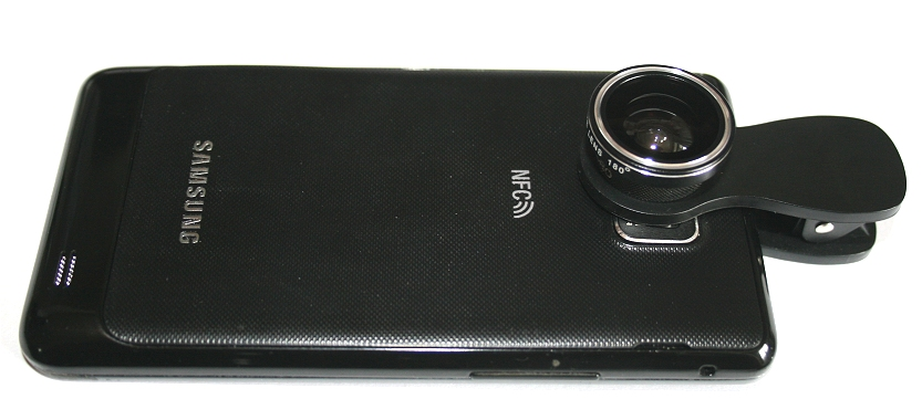 Attached is the lens which is of the fisheye type