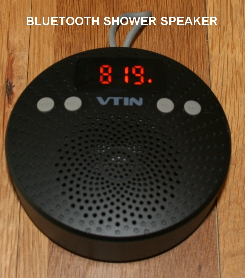 Listen to music with a bluetooth shower speaker