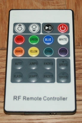 Change the settings with a remote controller