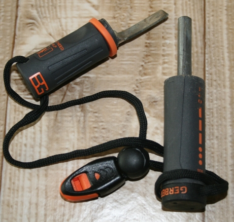 No matches - no problem, the bear grylls ferrocerium and metal rod will light a fire