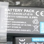 LP-E10 Spare Batteries for Canon