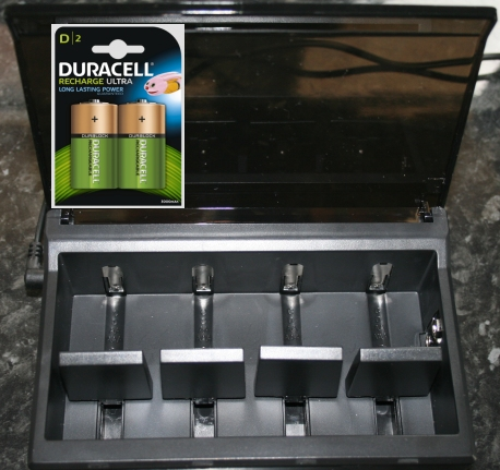 Review of a D type battery charger by duracell